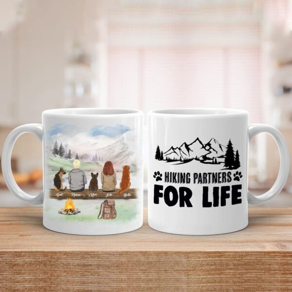 Hiking With Dogs Dad Mom Couple Dog Lovers Personalized Coffee Mug 2 YRC0812002