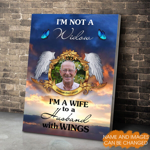 I'm A Wife To A Husband With Wings Personalized Canvas