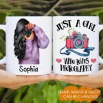 Just A Girl Who Loves Photography Personalized Coffee Mug