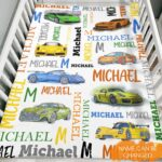 Supercars And Name Personalized Fleece Blanket