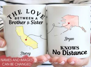 The Love Between a Brother   Sister Customizable Mug YRQ0509001  4 2a0d020a eacb 4204 bd93 50bc17d6bf62