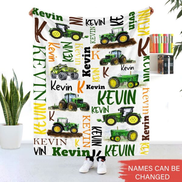 Tractor Blankets Farm Vehicles Gift For Kids Personalized Fleece Blankets YDH2110001