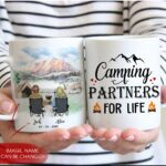 Camping Couple Customizable Coffee Mug