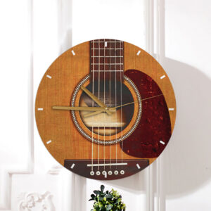 Guitar Lovers Guitar Shape Wooden Clock 2 YDC2001002