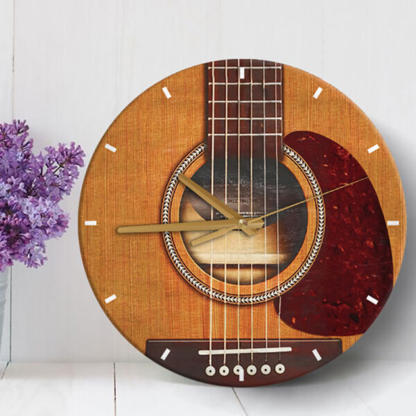 Guitar Lovers Guitar Shape Wooden Clock 3 YDC2001002