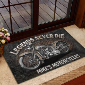 Legend Never Die Motorcycle Lovers Personalized Doormat YDH20010052