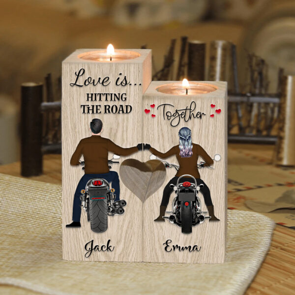 Life Is Beautiful Ride With You Motorcycle Riders Personalized Candle Holder 2 1