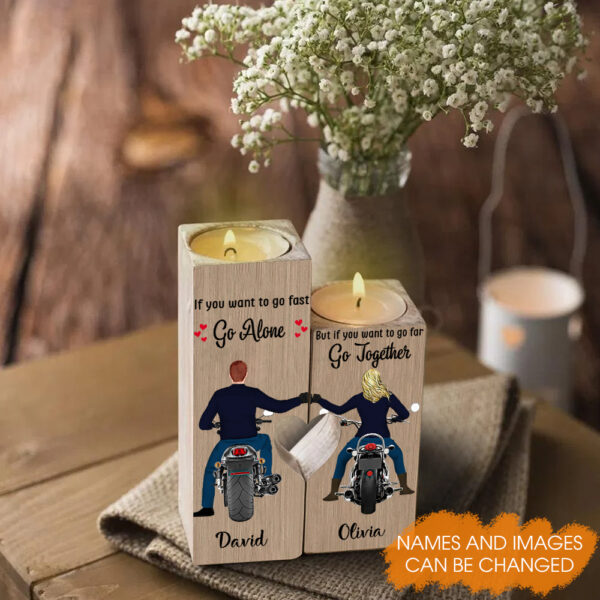 Life Is Beautiful Ride With You Motorcycle Riders Personalized Candle Holder 3 1