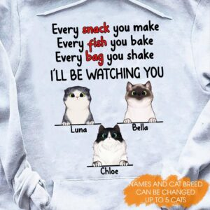 Love Cats I ll Be Watching You Personalized Shirts 2