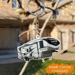 5th Wheel Camper Personalized Keychain 2