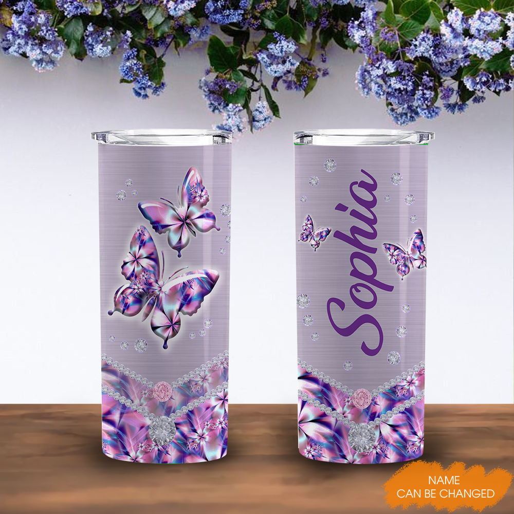 Abstract Butterfly Art Personalized 20oz Tall Tumbler YDG0502001 MK 1