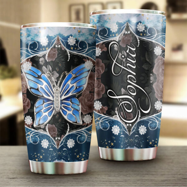 Butterfly Jewelry Personalized Stainless Steel Tumbler YZH20021051