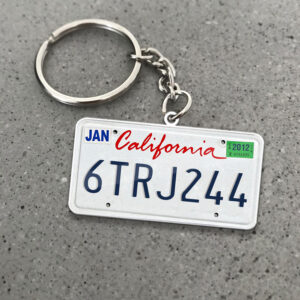 California License Plate Personalized Keychain