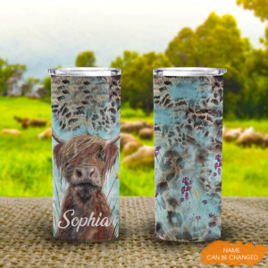 DUYEN Cow Lovers Personalized 20Oz Tall Tumbler YDG1802104 MK 1