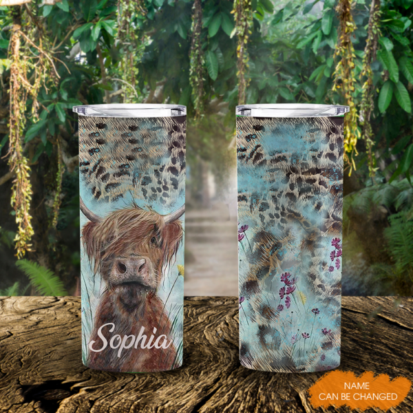 DUYEN Cow Lovers Personalized 20Oz Tall Tumbler YDG1802104 MK 3