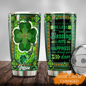 Irish Blessing St. Patrick s Day Lucky Leave Personalized Stainless Steel Tumbler 3