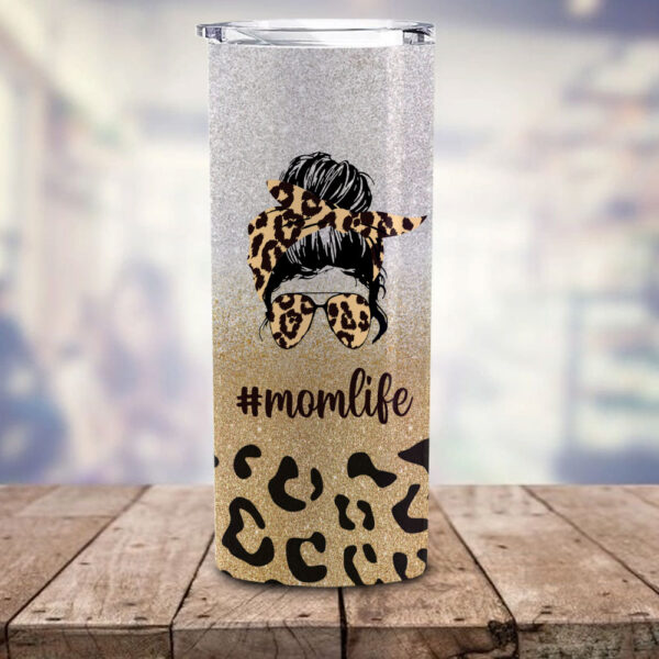 Mom Life And Kid Life Personalized Skinny Tumbler 2 YDC2202103