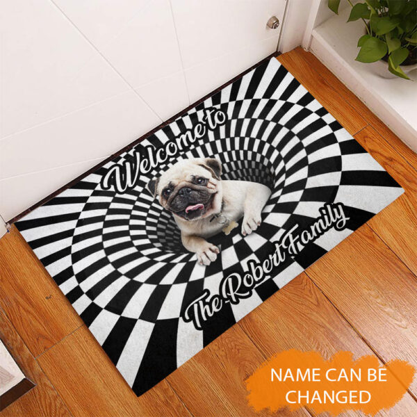 Pug 3D Hole Rubber Base Doormat YZG2202105 Mk 2