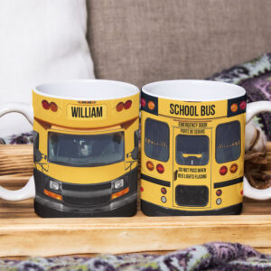 School Bus 3 Personalized Coffee Mug