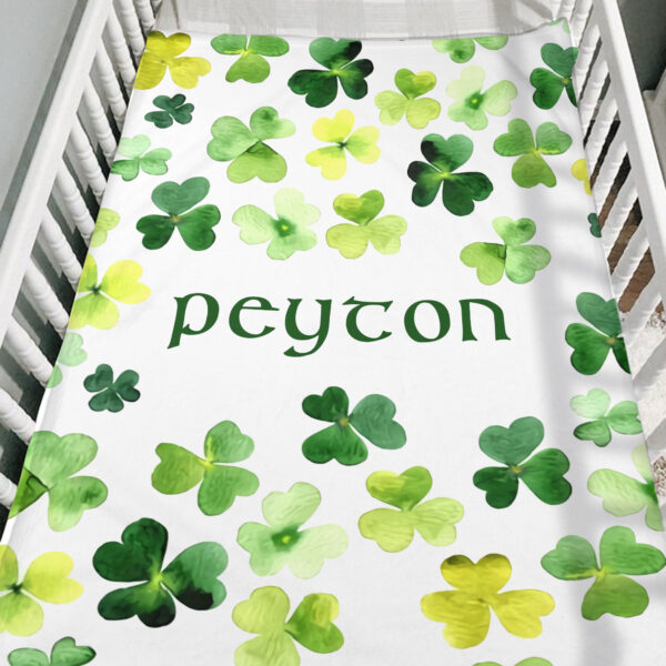 Shamrock Blanket Patrick Day Personalized Fleece Blanket 6 YDC1802103