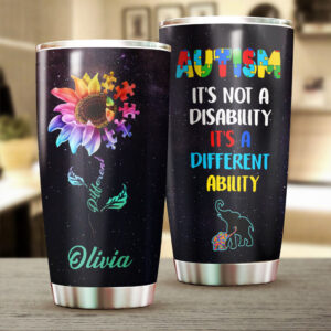 Autism A Different Ability Personalized Stainless Steel Tumbler 4 YZC0403107