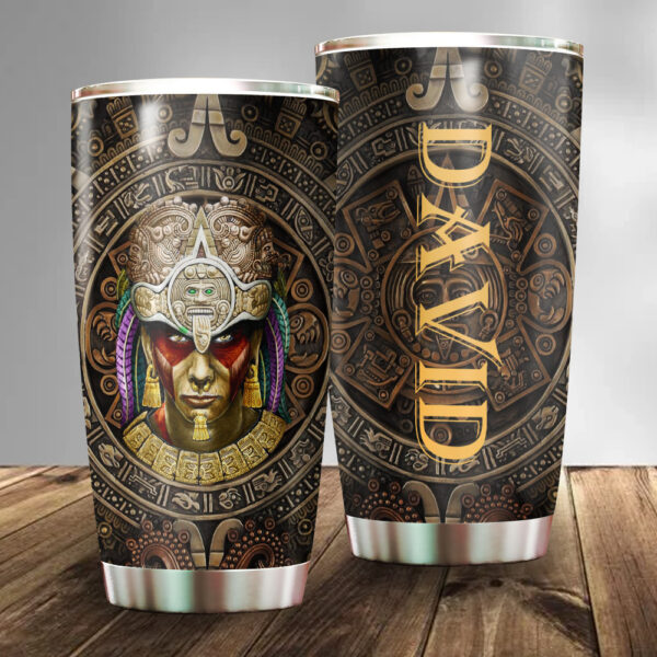 Aztec Warrior Mexico Personalized Stainless Steel Tumbler YZH08031032
