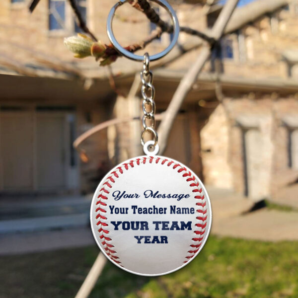 Baseball Ball Custom Yours Thanks Your Coach Personalized Wooden Keychain 4 YZC0103102
