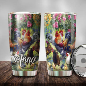 Chicken Personalized Stainless Steel Tumbler