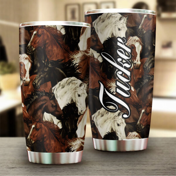 Horse Art Personalized Stainless Steel Tumbler