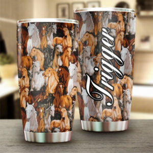 Horse Personalized Stainless Steel Tumbler