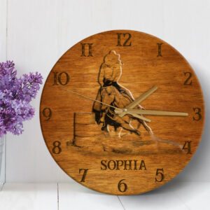 Horse Personalized Wooden Clock