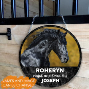 Horse Stall Custom Photo Personalized Wooden Sign