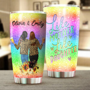Like Mother Like Daughter Mother's Day Gift Personalized Stainless Steel Tumbler