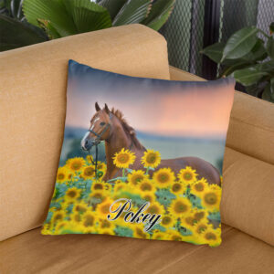 Love Horses Custom Photo Personalized Pillow