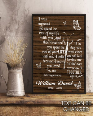 Memorial Butterfly Husband And Wife Personalized Poster