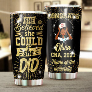 Nurse Graduation Personalized Stainless Steel Tumbler