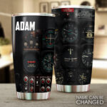 Pilot Cockpit Personalized Stainless Steel Tumbler