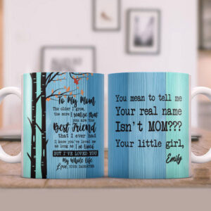 Send Your Message To Mom Best Gift For Mom On Mother's Day Personalized Coffee Mug