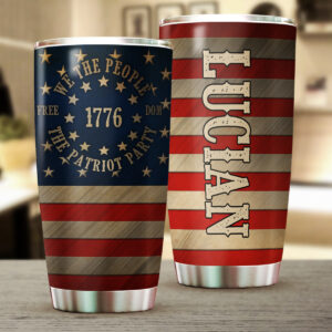 We The People Patriot Us Flag Personalized Stainless Steel Tumbler