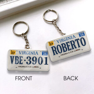 Virginia License Plate Personalized Keychain