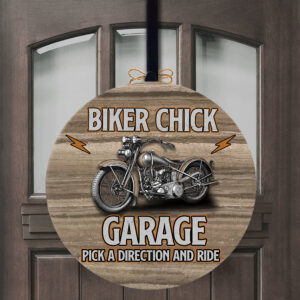 Your Name Garage Motorcycle Lovers Personalized Wood Sign