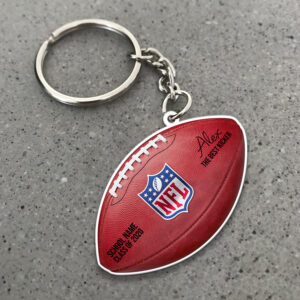 American Football Personalized Keychain