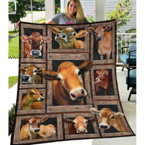 Farm Life Cow Lovers Jersey Cow Blanket
