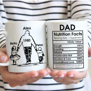 Dad Nutrition Fact Personalized Coffee Mug