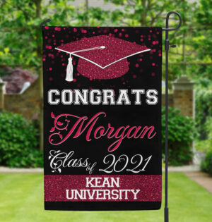 Graduation Class School And Name Personalized Garden Flag