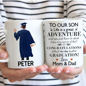 Son Graduation Gift Personalized Coffee Mug