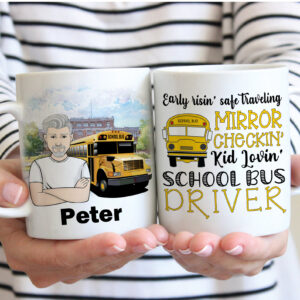 School Bus Driver Personalized Gift Coffee Mug