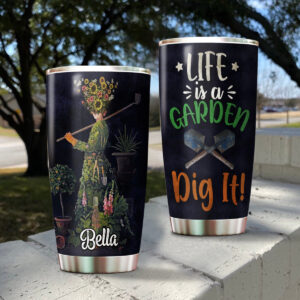 Life Is A Garden Personalized Stainless Steel Tumbler
