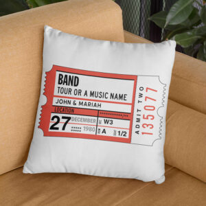 Concert Stub Concert Memory Personalized Pillow Cover