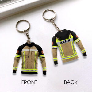Firefighter Uniform Personalized Keychain